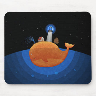 Whale Night Mouse Mat