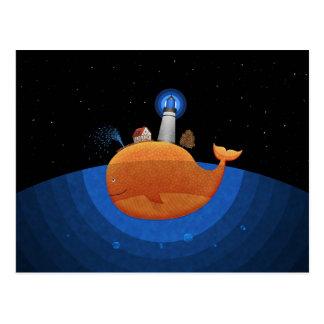 Whale (Night) Postcard