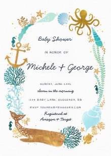 Ocean baby shower invitations zazzle filmwisefo