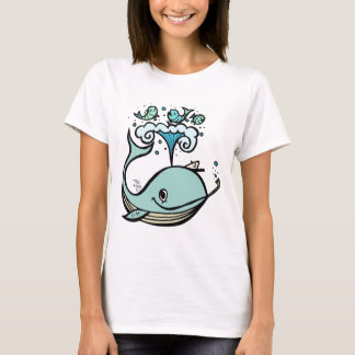 Whale of a Captain! by Tiki tOny T-Shirt