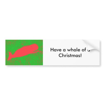Beach Themed Whale of a Christmas bumper sticker