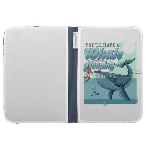 Whale of a Good Time Caseable Kindle folio Kindle 3 Covers