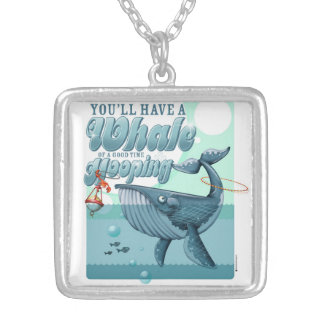 Whale of a Good Time necklace, silver-plated