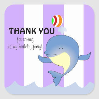 Whale of a Party Thank You Stickers