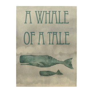 Whale of a Tale Wood Wall Decor