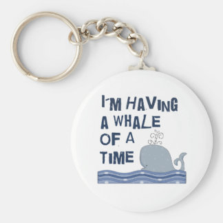 Whale of a Time Basic Round Button Keychain