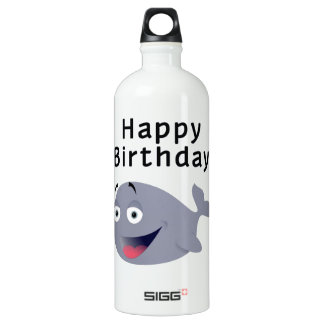 Whale of a Time - Happy Birthday Aluminum Water Bottle