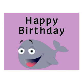 Whale of a Time - Happy Birthday Post Card