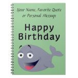 Whale of a Time - Happy Birthday Spiral Notebooks