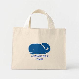 Whale of a time mini tote bag
