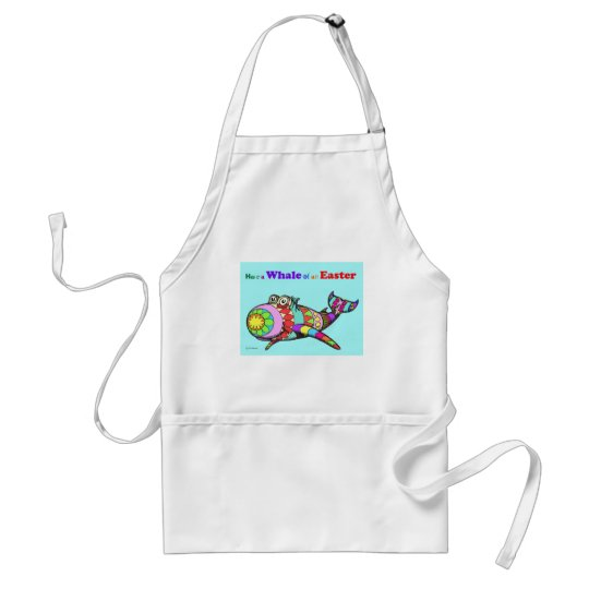 Whale of an Easter Adult Apron