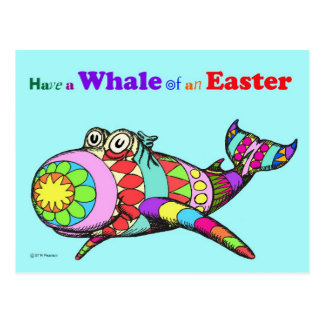 Whale of an Easter Postcard