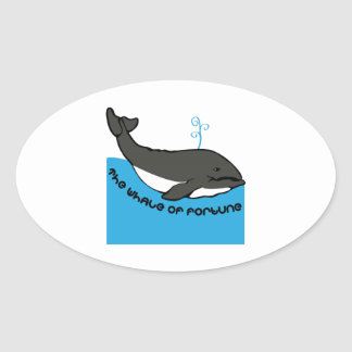 Whale Of Fortune Oval Sticker