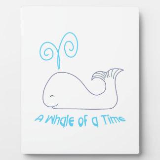Whale Of Time Applique Plaque