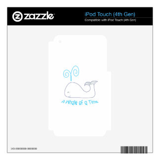 Whale Of Time Applique Skins For iPod Touch 4G