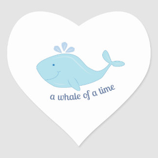 Whale Of Time Heart Sticker