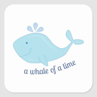 Whale Of Time Square Sticker