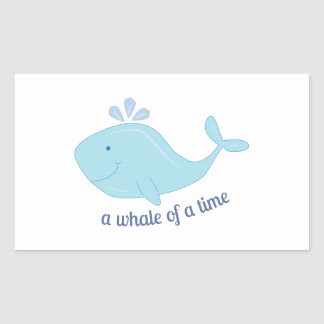 Whale Of Time Rectangle Sticker