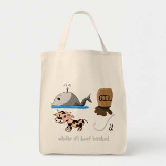 Whale Oil Beef Hooked fun slogan Tote Bag