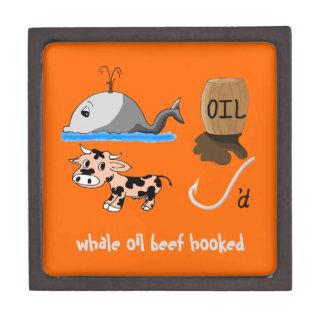 Whale Oil Beef Hooked fun slogan Jewelry Box