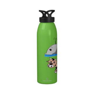 Whale Oil Beef Hooked fun slogan Reusable Water Bottle