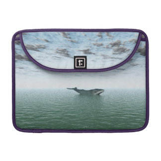 Whale on the ocean MacBook pro sleeve
