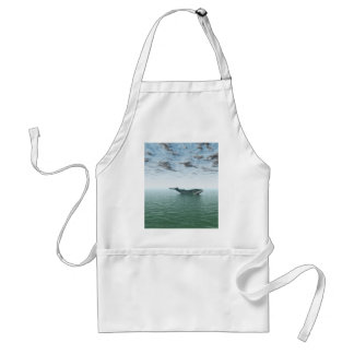 Whale on the sea adult apron