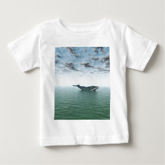 Whale on the sea baby T-Shirt