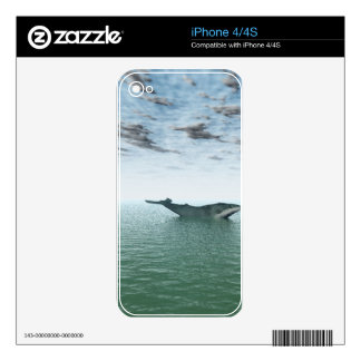 Whale on the sea decals for the iPhone 4S