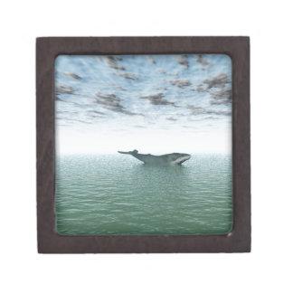 Whale on the sea keepsake box