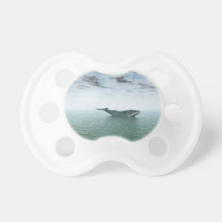 Whale on the sea pacifier
