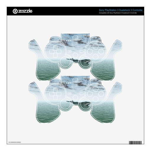 Whale on the sea PS3 controller skin