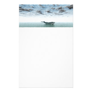 Whale on the sea stationery