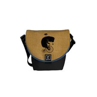 Whale on Vintage Bicycle Messenger Bag
