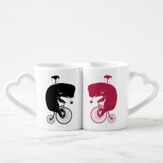 Whale on Vintage Bike Couples Coffee Mug
