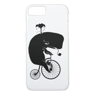 Whale on Vintage Bike iPhone 7 Case
