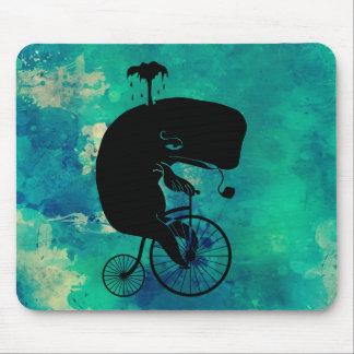 Whale on Vintage Bike Mouse Pad
