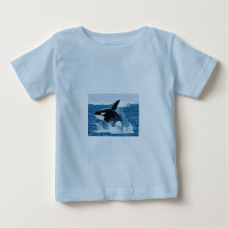 Whale Orca  Water Animal Sea Ocean Fish Peace Love Baby T-Shirt