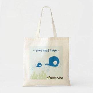 Whale Organic Planet Reusable Canvas Bag