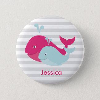 Whale Pals Pinback Button