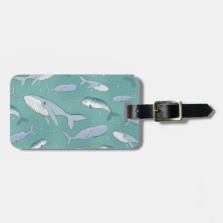 Whale Parade Pattern Bag Tag
