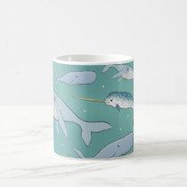 Whale Parade Pattern Coffee Mug