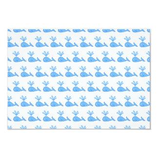 Whale Pattern. 3.5x5 Paper Invitation Card