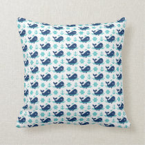 Whale Pattern Pillow