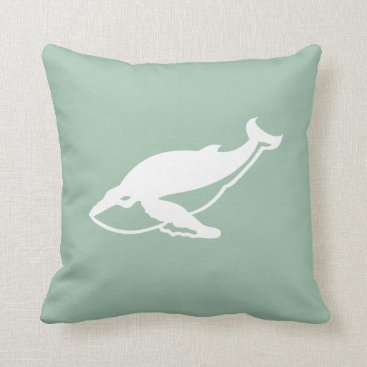 Beach Themed Whale Pillow