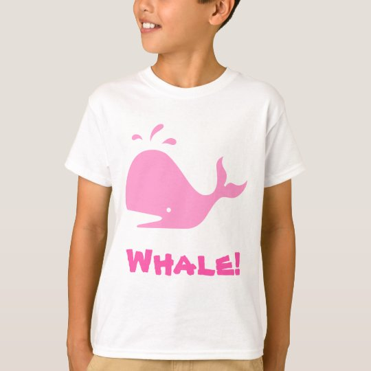 Whale! Pink. Customizable T-Shirt