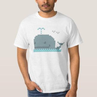 Whale Pixel Art T-Shirt