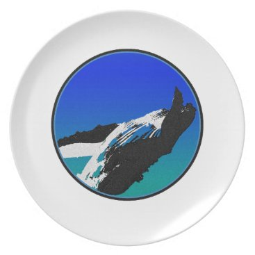 Beach Themed Whale Plate