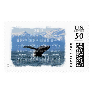 Whale Playtime; 2012 Calendar Postage