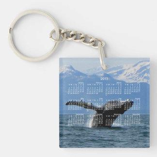 Whale Playtime; 2013 Calendar Keychain